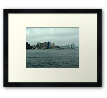 Waiting for the Sailpast-Halifax Framed Print
