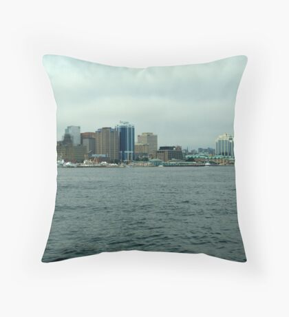 Waiting for the Sailpast-Halifax Throw Pillow