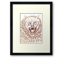 Abstract Wolf Sketch 3 Framed Print