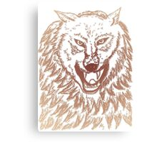 Abstract Wolf Sketch 3 Canvas Print