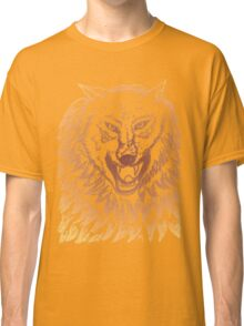Abstract Wolf Sketch 3 Classic T-Shirt