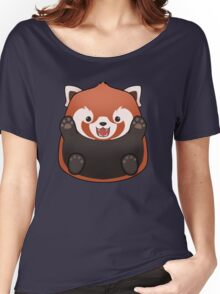 Hug Me Red Panda Women's Relaxed Fit T-Shirt