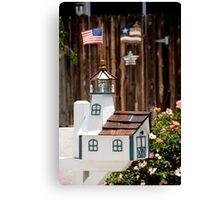 Patriot Mailbox Canvas Print