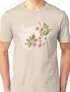 Colored Sketch of Sakura Branch 3 Unisex T-Shirt