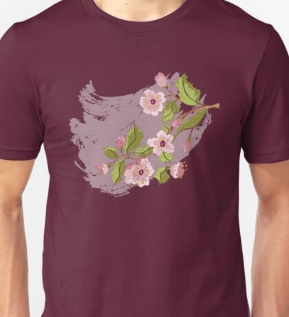 Colored Sketch of Sakura Branch 3 Unisex T-Shirt