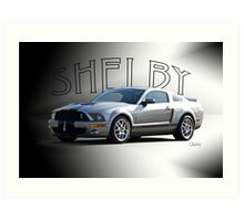 2009 Ford Mustang 'by Shelby' Art Print