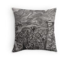 The Three Hunters Throw Pillow