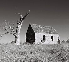 Ruins of old church, Federal Highway, NSW, Australia by claudiarose99