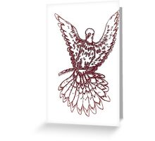 Dove Sketch 2 Greeting Card