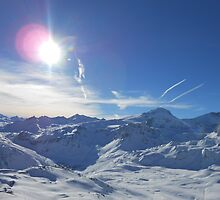 Beautiful Sky Over Mountain by Gilling