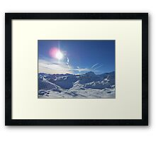 Beautiful Sky Over Mountain Framed Print