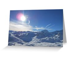 Beautiful Sky Over Mountain Greeting Card