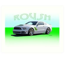 2014 Ford Mustang 'by Roush' Art Print