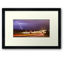 New Narrows Strike Framed Print