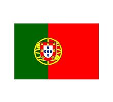 Portuguese Flag, Flag of Portugal, Portugal, Pure & Simple by TOM HILL - Designer