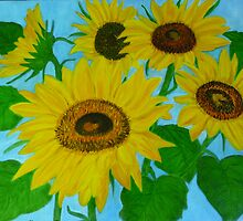 Sunflowers in my garden  by elajanus