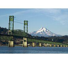 Columbia River Mount Hood Photographic Print