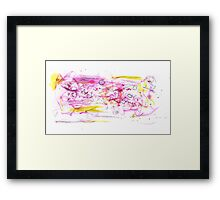 Pink and Yellow Watercolour Abstract Painting Framed Print