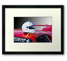 Ferrari Helmet & Gloves Framed Print