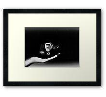 Practicing levitation Framed Print