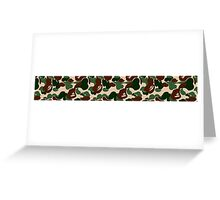 A Bathing Ape Camo Greeting Card