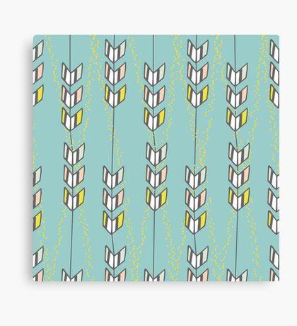 Freshtatic Chevron Arrows Illustration Pattern Canvas Print