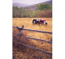 Teton's Tractor Photographic Print