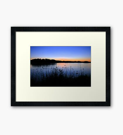 Saturday Sunset Framed Print