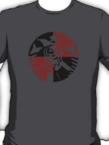 Quinn Coffee (Black+Red) T-Shirt