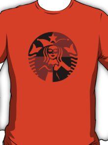 Quinn Coffee (Black+Red) T-Shirt