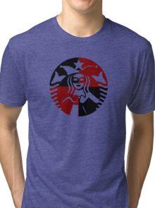 Quinn Coffee (Black+Red) Tri-blend T-Shirt