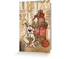 patch bunny Greeting Card