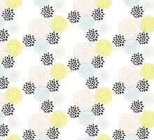 Freshtastic Flowers Illustration Pattern by DoucetteDesigns