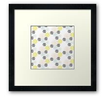 Freshtastic Flowers Illustration Pattern Framed Print