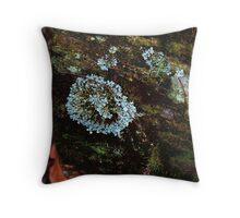 Opal lichen Throw Pillow