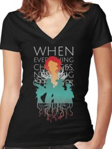 Red - Transistor Women's Fitted V-Neck T-Shirt