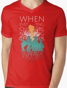 Red - Transistor Mens V-Neck T-Shirt