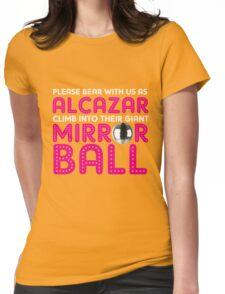 Alcazar Mirror Ball Womens Fitted T-Shirt