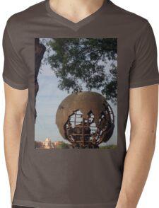 Globe- IllumiNATIONS Mens V-Neck T-Shirt