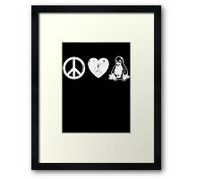Peace Love And Linux Framed Print