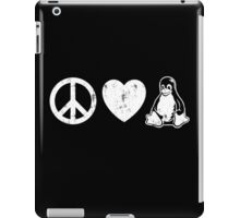 Peace Love And Linux iPad Case/Skin