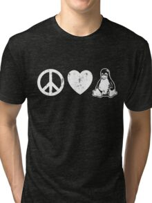 Peace Love And Linux Tri-blend T-Shirt