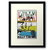 London Scooter Rally Framed Print