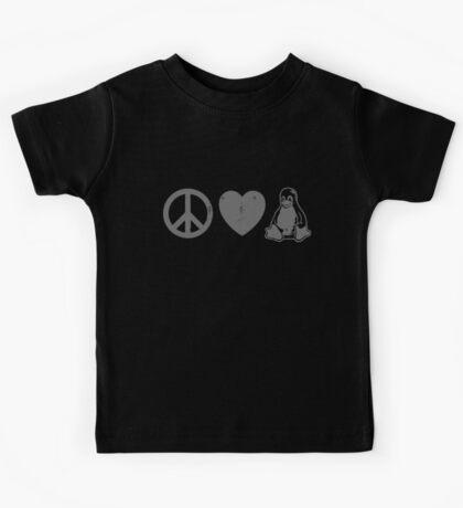 Peace Love And Linux Kids Tee