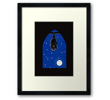 Bat in the Window Framed Print