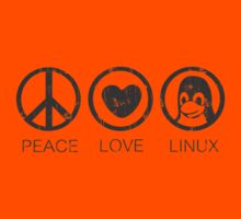 Peace Love And Linux Kids Clothes