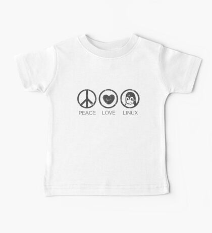 Peace Love And Linux Baby Tee