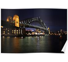 Sydney Harbour Bridge at Dusk Poster