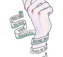 Kiss your Knuckles - The Front Bottoms by sjgergolas