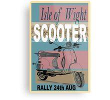 Isle of Writer Scooter Rally Metal Print
